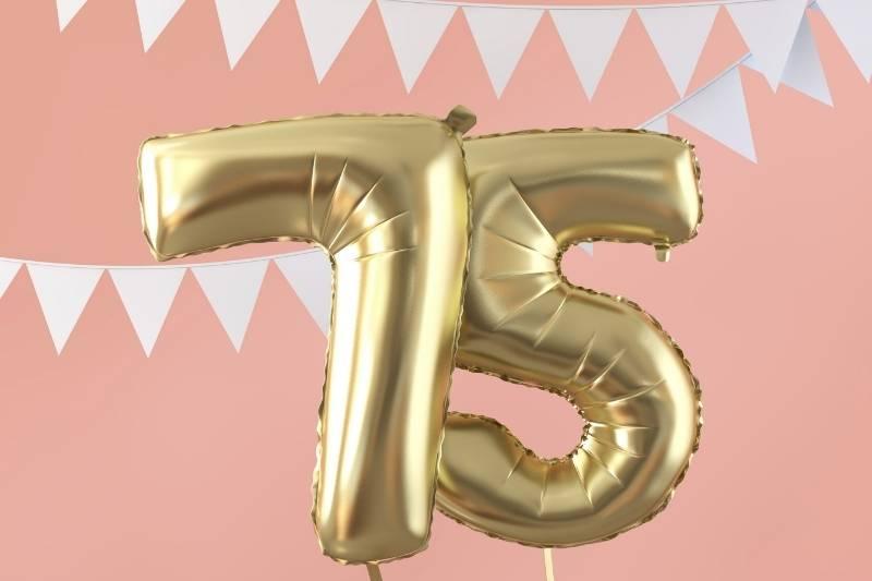 Happy 75 Birthday Images - 15