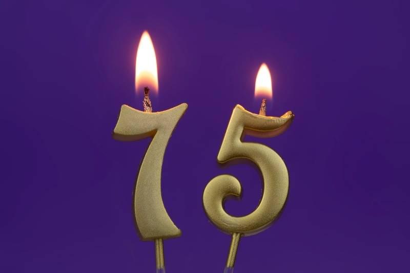 Happy 75 Birthday Images - 17