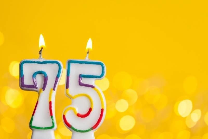 Happy 75 Birthday Images - 18