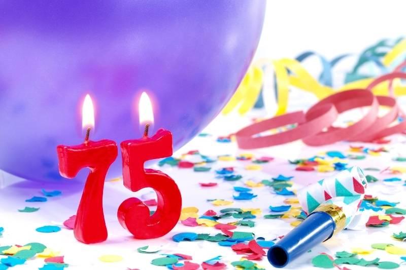 Happy 75 Birthday Images - 2
