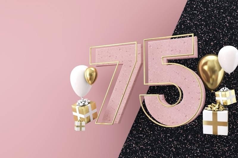 Happy 75 Birthday Images - 4