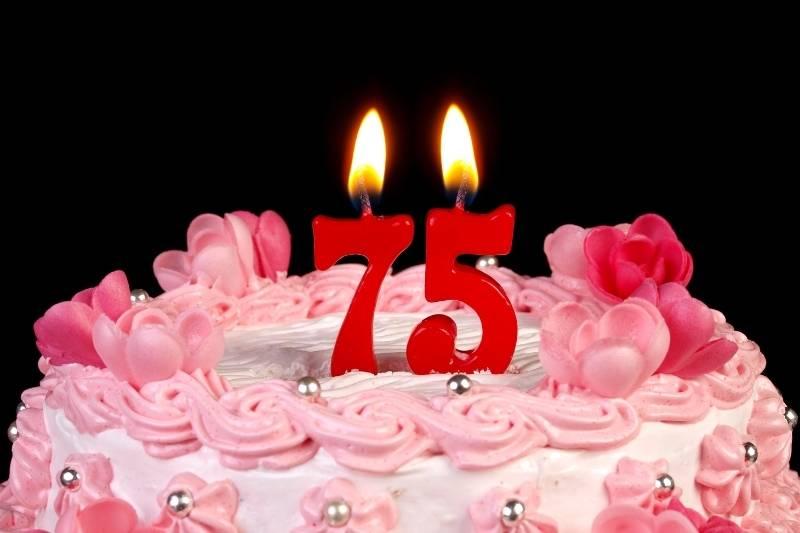 Happy 75 Birthday Images - 6