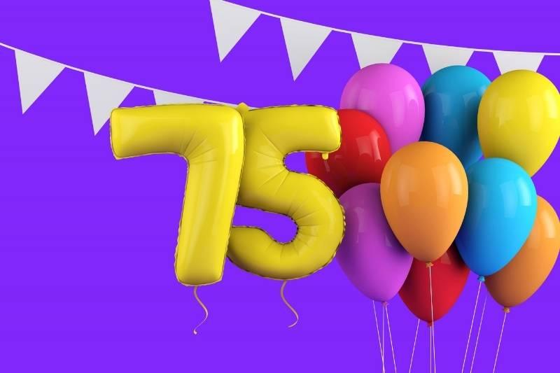 Happy 75 Birthday Images - 7