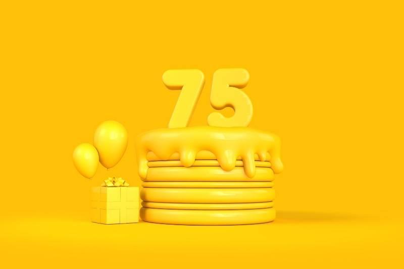 Happy 75 Birthday Images - 8