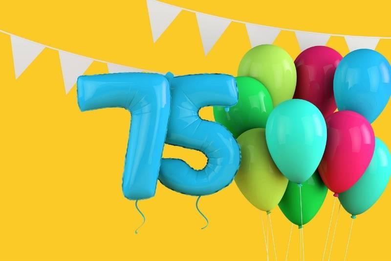 Happy 75 Birthday Images - 9