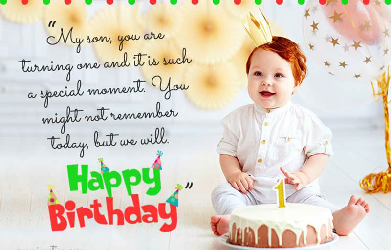 Happy First Bday Wishes - 22