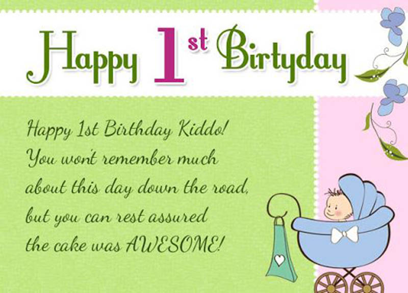 Happy First Bday Wishes - 8