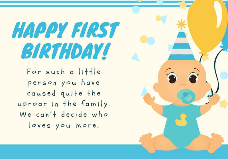 Happy First Bday Wishes - 9