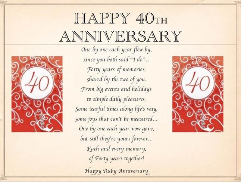 happy 40th Wedding Anniversary Images - 34