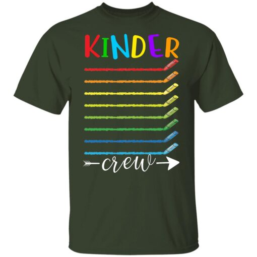 First Day Of Kindergarten Gifts, Kinder Crew 1st Day Of School T-shirt 2 of Sapelle