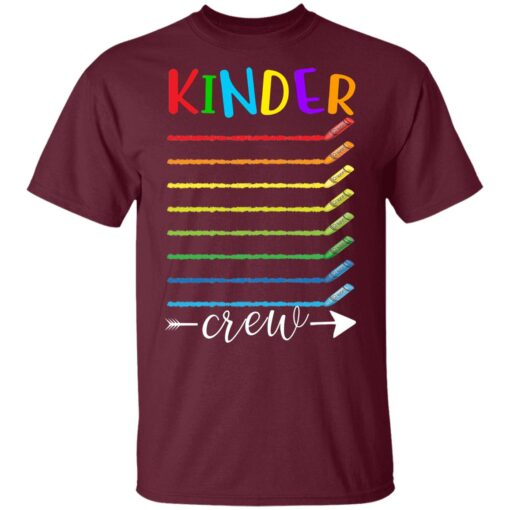 First Day Of Kindergarten Gifts, Kinder Crew 1st Day Of School T-shirt 3 of Sapelle