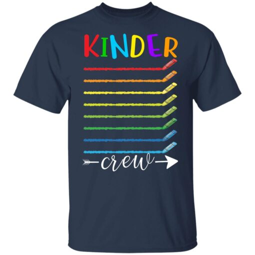 First Day Of Kindergarten Gifts, Kinder Crew 1st Day Of School T-shirt 5 of Sapelle