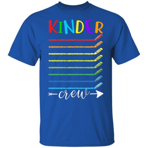 First Day Of Kindergarten Gifts, Kinder Crew 1st Day Of School T-shirt 6 of Sapelle