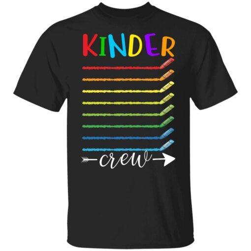 First Day Of Kindergarten Gifts, Kinder Crew 1st Day Of School T-shirt 1 of Sapelle
