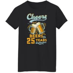 September 1996 25 Years Old Cheers Beer To My 25th Birthday T-Shirt 38 of Sapelle