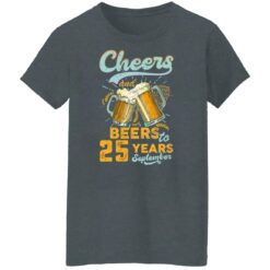 September 1996 25 Years Old Cheers Beer To My 25th Birthday T-Shirt 40 of Sapelle