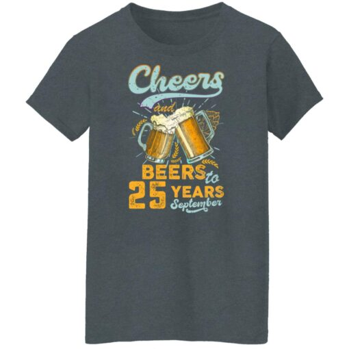 September 1996 25 Years Old Cheers Beer To My 25th Birthday T-Shirt 13 of Sapelle