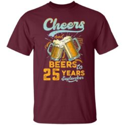 September 1996 25 Years Old Cheers Beer To My 25th Birthday T-Shirt 20 of Sapelle