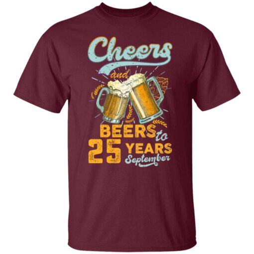 September 1996 25 Years Old Cheers Beer To My 25th Birthday T-Shirt 3 of Sapelle