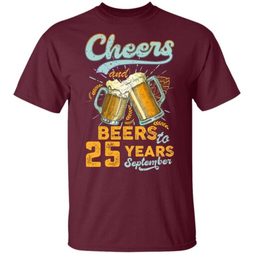 September 1996 25 Years Old Cheers Beer To My 25th Birthday T-Shirt 8 of Sapelle