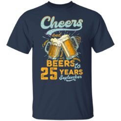 September 1996 25 Years Old Cheers Beer To My 25th Birthday T-Shirt 32 of Sapelle