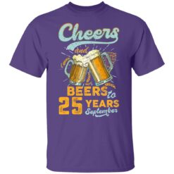 September 1996 25 Years Old Cheers Beer To My 25th Birthday T-Shirt 34 of Sapelle