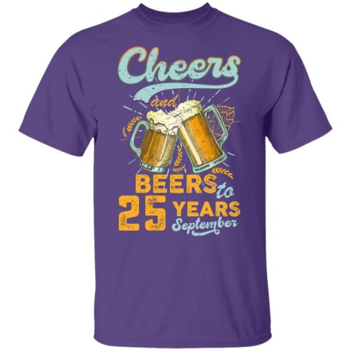 September 1996 25 Years Old Cheers Beer To My 25th Birthday T-Shirt 10 of Sapelle