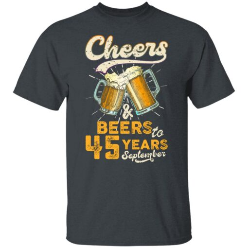 September 1976 45 Years Old Cheers Beer To My 45th Birthday T-Shirt 2 of Sapelle