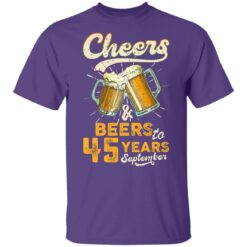 September 1976 45 Years Old Cheers Beer To My 45th Birthday T-Shirt 37 of Sapelle