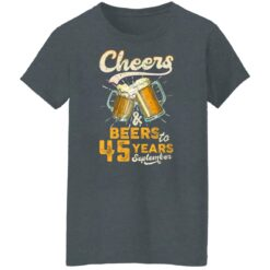 September 1976 45 Years Old Cheers Beer To My 45th Birthday T-Shirt 43 of Sapelle