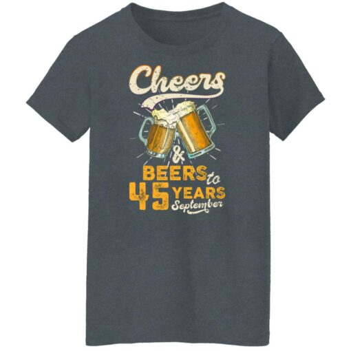 September 1976 45 Years Old Cheers Beer To My 45th Birthday T-Shirt 14 of Sapelle