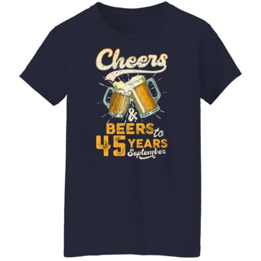 September 1976 45 Years Old Cheers Beer To My 45th Birthday T-Shirt 16 of Sapelle
