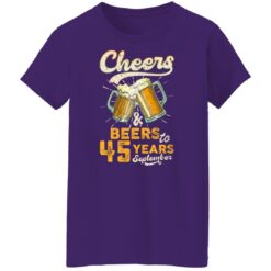 September 1976 45 Years Old Cheers Beer To My 45th Birthday T-Shirt 49 of Sapelle