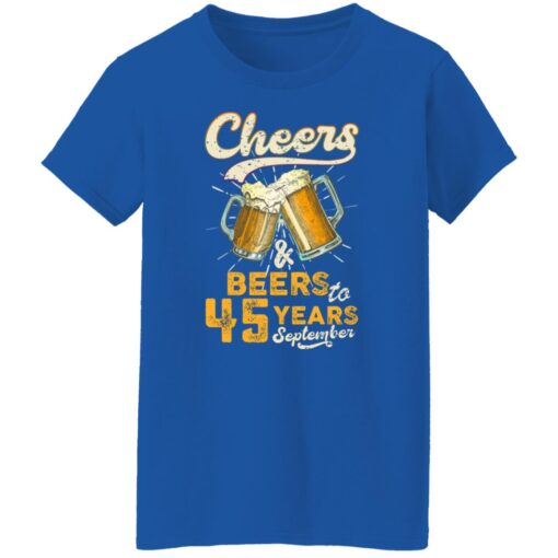 September 1976 45 Years Old Cheers Beer To My 45th Birthday T-Shirt 18 of Sapelle