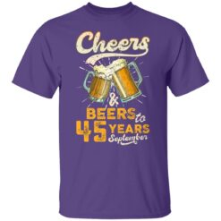 September 1976 45 Years Old Cheers Beer To My 45th Birthday T-Shirt 25 of Sapelle