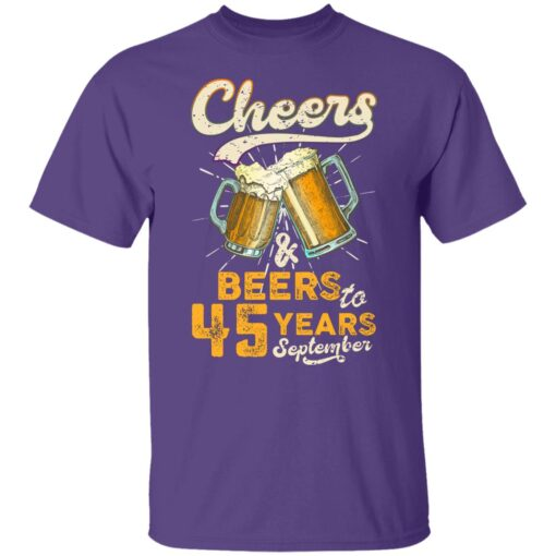 September 1976 45 Years Old Cheers Beer To My 45th Birthday T-Shirt 5 of Sapelle