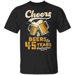 September 1976 45 Years Old Cheers Beer To My 45th Birthday T-Shirt 29 of Sapelle