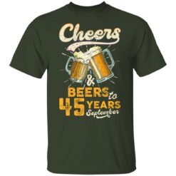 September 1976 45 Years Old Cheers Beer To My 45th Birthday T-Shirt 31 of Sapelle