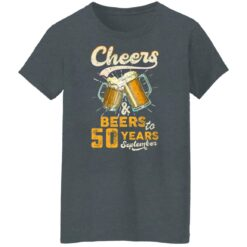 September 1971 50 Years Old Cheers Beer To My 50th Birthday T-Shirt 43 of Sapelle