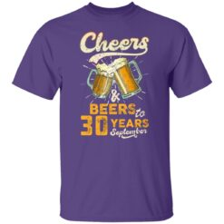 September 1991 30 Years Old Cheers Beer To My 30th Birthday T-Shirt 37 of Sapelle