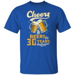 September 1991 30 Years Old Cheers Beer To My 30th Birthday T-Shirt 39 of Sapelle