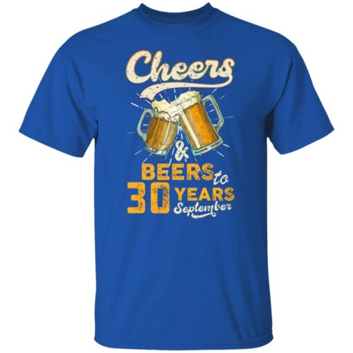 September 1991 30 Years Old Cheers Beer To My 30th Birthday T-Shirt 12 of Sapelle