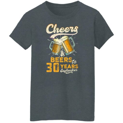 September 1991 30 Years Old Cheers Beer To My 30th Birthday T-Shirt 14 of Sapelle