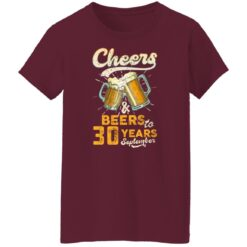 September 1991 30 Years Old Cheers Beer To My 30th Birthday T-Shirt 45 of Sapelle