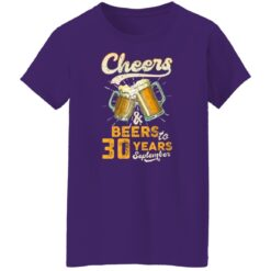 September 1991 30 Years Old Cheers Beer To My 30th Birthday T-Shirt 49 of Sapelle