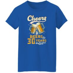 September 1991 30 Years Old Cheers Beer To My 30th Birthday T-Shirt 51 of Sapelle