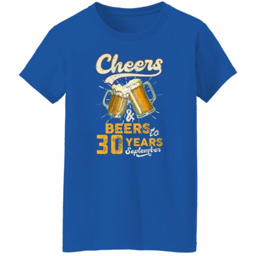 September 1991 30 Years Old Cheers Beer To My 30th Birthday T-Shirt 18 of Sapelle