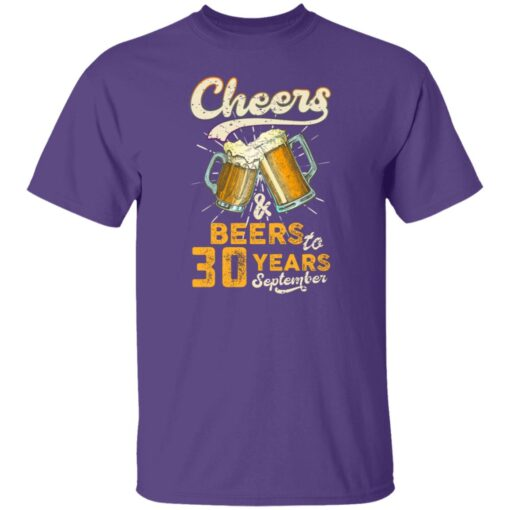 September 1991 30 Years Old Cheers Beer To My 30th Birthday T-Shirt 5 of Sapelle