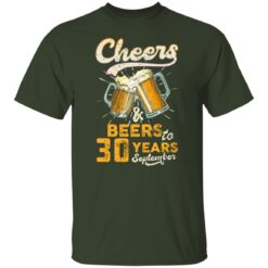 September 1991 30 Years Old Cheers Beer To My 30th Birthday T-Shirt 31 of Sapelle