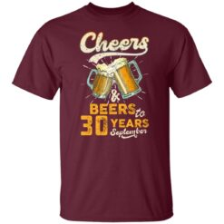 September 1991 30 Years Old Cheers Beer To My 30th Birthday T-Shirt 33 of Sapelle